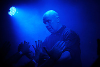 LONDON, ENGLAND - DECEMBER 1: Bon Harris of 'Nitzer Ebb' performing at Electrowerkz' on December 1, 2018 in London, England.<br /> CAP/MAR<br /> &copy;MAR/Capital Pictures
