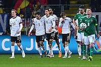 19th November 2019, Frankfurt, Germany; 2020 European Championships qualification, Germany versus Northern Ireland; Celebrations for 2:1 from scorer Leon Goretzka  DFB