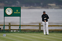 Shane Lowry (IRL) on the 18th tee during the 3rd round of the US Open Championship, Pebel Beach Golf Links, Monterrey, Calafornia, USA. 15/06/2019.<br /> Picture Fran Caffrey / Golffile.ie<br /> <br /> All photo usage must carry mandatory copyright credit (© Golffile | Fran Caffrey)