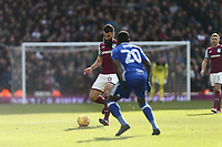 Mile Jedinak of Aston Villa  wins the ball from Jeremie Boga of Birmingham City <br /> <br /> Photographer Leila Coker/CameraSport<br /> <br /> The EFL Sky Bet Championship - Aston Villa v Birmingham City - Sunday 11th February 2018 - Villa Park - Birmingham<br /> <br /> World Copyright &copy; 2018 CameraSport. All rights reserved. 43 Linden Ave. Countesthorpe. Leicester. England. LE8 5PG - Tel: +44 (0) 116 277 4147 - admin@camerasport.com - www.camerasport.com