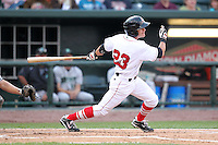 Great Lakes Loons third baseman Brian Ruggiano during a game vs. the Dayton Dragons at Dow Diamond in Midland, Michigan August 19, 2010.   Great Lakes defeated Dayton 1-0.  Photo By Mike Janes/Four Seam Images