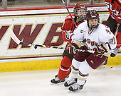 Michelle Ng (St. Lawrence - 3), Mary Restuccia (BC - 22) - The visiting St. Lawrence University Saints defeated the Boston College Eagles 4-0 on Friday, January 15, 2010, at Conte Forum in Chestnut Hill, Massachusetts.