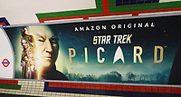 For 48 hours, London's tube system has a 'new' station. Piccadilly Circus - part of both the Bakerloo line and Piccadilly line -is officially renamed 'Picardilly Circus', ahead of the forthcoming new Star Trek spin-off series Star Trek: Picard, from Amazon Prime. London on January 16th 2020<br /> <br /> Photo by Keith Mayhew