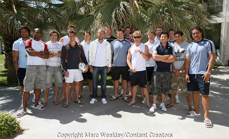 Some All Black members with Zinedine Zidane, Marseille, 06 September 2007.