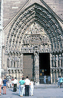 Paris: Notre Dame--Portal to the Virgin, 13th century. North Portal. Photo '87.