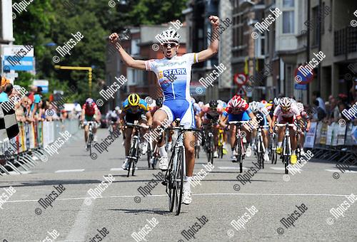 2011-07-11 / Wielrennen / seizoen 2011 / Sint Martinusprijs Internationale 4 daagse voor Juniors Kontich /  De Deen Lund Rasmus wint de laatste rit..Foto: mpics