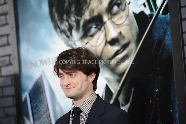 WWW.ACEPIXS.COM . . . . . .November 15, 2010...New York City...Daniel Radcliffe attends the Premiere of Harry Potter And The Deathly Hallows: Part 1 at Alice Tully Hall on November 15, 2010 in New York City....Please byline: KRISTIN CALLAHAN - ACEPIXS.COM.. . . . . . ..Ace Pictures, Inc: ..tel: (212) 243 8787 or (646) 769 0430..e-mail: info@acepixs.com..web: http://www.acepixs.com .