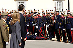 MADRID, SPAIN - MARCH 30:  A soldier faints during the visit of the Prince of Wales, Britain's Prince Charles and his wife Camilla, Duchess of Cornwall at El Pardo Palace on March 30, 2011 in Madrid, Spain.  (Photo by Juan Naharro Gimenez)