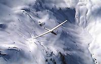 Segelflug, Sport, Luftfahrt, Segelflugzeug vom Typ LS1c, Südfrankreich,  Ecrins, Schnee, Berge
