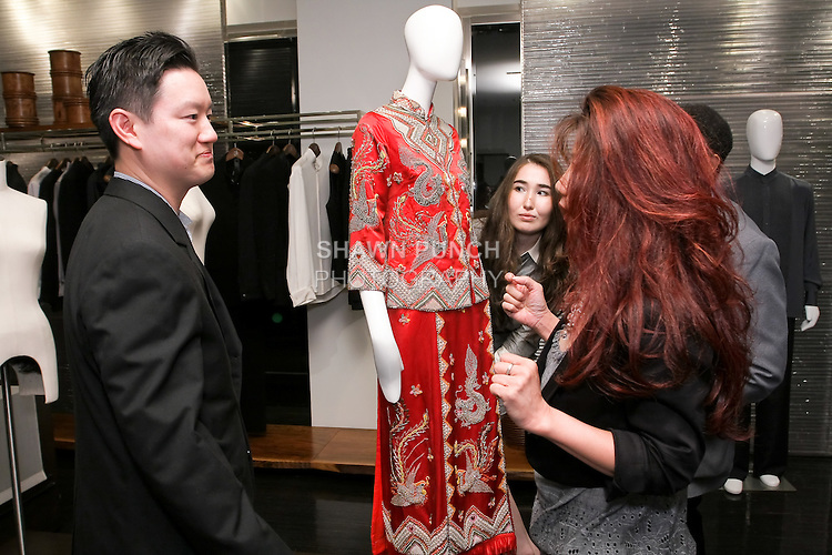 Shoppers attend the Blanc de Chine Fashion's Night Out event with The Museum Of Chinese In America, at 673 5th Avenue, September 10, 2010.