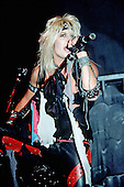 NEW YORK CITY, NY JANUARY 30: Vince Neil of Motley Crue performs at Madison Square Garden on on January 30, 1984 in New York City, New York.  photo by Larry Marano (C) 1984.