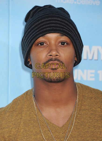 "Romeo (Percy Romeo Miller, Jr.).The Los Angeles premiere of ""That's My Boy"" at Regency Village Theatre in Westwood, California, USA..June 4th, 2012 .headshot portrait goatee facial hair yellow t-shirt  beanie hat .CAP/ROT/TM.©Tony Michaels/Roth Stock/Capital Pictures"