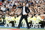 Malaga's coach Javi Gracia during La Liga match. September 26,2015. (ALTERPHOTOS/Acero)