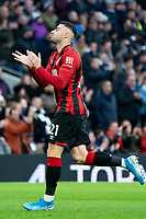 Bournemouth's Diego Rico applauds travelling fans prior to kick off<br /> <br /> Photographer Stephanie Meek/CameraSport<br /> <br /> The Premier League - Tottenham Hotspur v Bournemouth - Saturday 30th November 2019 - Tottenham Hotspur Stadium - London<br /> <br /> World Copyright © 2019 CameraSport. All rights reserved. 43 Linden Ave. Countesthorpe. Leicester. England. LE8 5PG - Tel: +44 (0) 116 277 4147 - admin@camerasport.com - www.camerasport.com