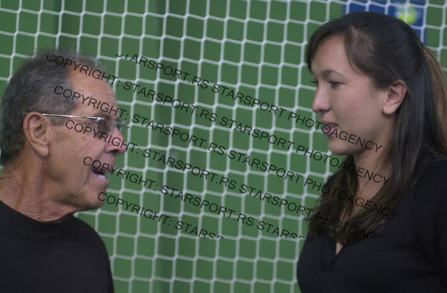 SPORT TENIS Jelena Jankovic i Nik Boletijeri 13.05.2004. foto: Pedja Milosavljevic<br />  Nick Bollettieri