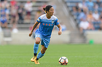 Bridgeview, IL - Sunday August 20, 2017: Yuki Nagasato during a regular season National Women's Soccer League (NWSL) match between the Chicago Red Stars and FC Kansas City at Toyota Park. KC Kansas City won 3-1.