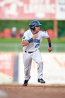 Lake County Captains pinch runner Joshua Rolette (27) runs the bases during the first game of a doubleheader against the South Bend Cubs on May 16, 2018 at Classic Park in Eastlake, Ohio.  South Bend defeated Lake County 6-4 in twelve innings.  (Mike Janes/Four Seam Images)