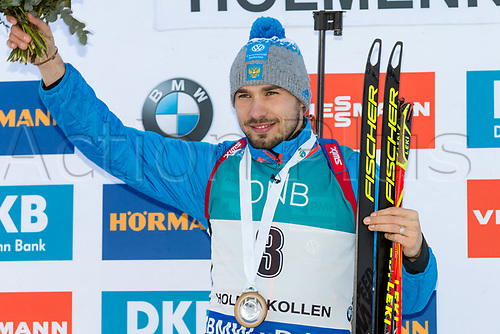 March 18th 2017, Oslo, Norway; BMW IBU World Cup Biathlon;  Anton Shipulin of Russia winner of  the men 12 1/2 km pursuit at the IBU World Cup Biathlon in Holmenkollen Oslo, Norway
