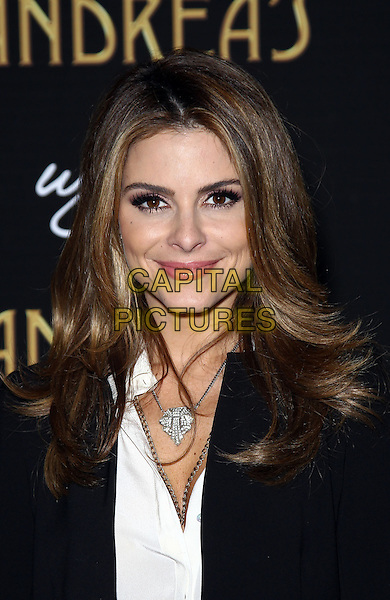 Maria Menounos.Steve and Andrea Wynn host grand opening celebration for Andrea's in Wynn Las Vegas, Las Vegas, NV., USA..January 16th, 2013.headshot portrait necklace pink lipstick black white top .CAP/ADM/MJT.© MJT/AdMedia/Capital Pictures.