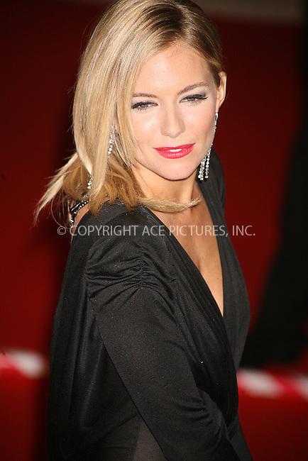 Ferrari Press Agency.Ref TMK 2021.BAFTA'S 10/02/08..BAFTAS held at the Royal Opera House London..OPS: Sienna Miller