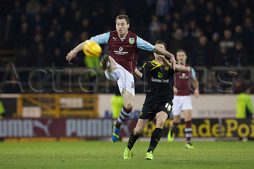18.01.2014 Burnley, England. Danny Lafferty  during the Championship game between Burnley and Sheffield Wednesday from Turf Moor.