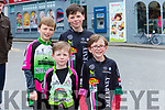 At The Ras Mumhan Cycle Race in Killorglin on Monday were Colm Kissane O'Sullivan, Donnacha Kissane O'Sullivan, Dáithí Kissane O'Sullivan, Tadhg Kissane O'Sullivan