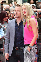 Ronan Keating and girlfriend Storm Uechtritz arriving for the Postman Pat Premiere, Odeon West End, London. 11/05/2014 Picture by: Alexandra Glen / Featureflash