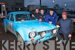 Tim Linehan Millstreet, Danny O'Shea Lauragh, Diarmuid Quill Kenmare and Michael Delaney Millsteet at the Killarney Historic Rally in Killarney on Saturday