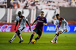 Arthur Henrique Ramos de Oliveira Melo of FC Barcelona is tackled by Rayo Vallecano players during the La Liga 2018-19 match between Rayo Vallecano and FC Barcelona at Estadio de Vallecas, on November 03 2018 in Madrid, Spain. Photo by Diego Gouto / Power Sport Images