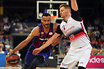 League ACB-ENDESA 201/2019.Game 38.<br /> PlayOff Semifinals.1st match.<br /> FC Barcelona Lassa vs Tecnyconta Zaragoza: 101-59.<br /> Adam Hanga vs Seibutis.