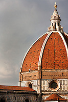 Cathedral Santa Maria del Fiore, Florence, Italy, also known as the Duomo, begun in 1296 by Arnolfo di CAMBIO, dome by Filippo BRUNELLESCHI, 1377-1446, completed in 1436, pictured on June 8 2007.