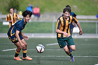 Action from the College Football - Wellington High School v Upper Hutt College at Wellington College, Wellington, New Zealand on Monday 1 June 2015.<br /> Photo by Masanori Udagawa. <br /> www.photowellington.photoshelter.com.