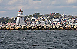 Images of The Canadian Maritime Provinces of Nova Scotia and Prince Edward Island. Lunenburg Lighthouse, Nova Scotia, Canada.