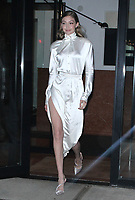 NEW YORK, NY - May 31: Gigi Hadid seen at the  Backstage Secrets By Russell James book launch  at the Alley Cat Amateur Theatre at The Beekman in New York City on May 31, 2018 <br /> CAP/MPI/RW<br /> &copy;RW/MPI/Capital Pictures