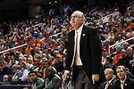 12 March 2015: Miami head coach Jim Larranaga. The Notre Dame Fighting Irish played the University of Miami Hurricanes in an NCAA Division I Men's basketball game at the Greensboro Coliseum in Greensboro, North Carolina in the ACC Men's Basketball Tournament quarterfinal game. Notre Dame won the game 70-63.