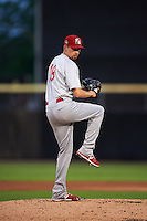 Palm Beach Cardinals pitcher Tyler Melling (18) delivers a pitch during the second game of a doubleheader against the Dunedin Blue Jays on July 31, 2015 at Florida Auto Exchange Stadium in Dunedin, Florida.  Dunedin defeated Palm Beach 4-0.  (Mike Janes/Four Seam Images)