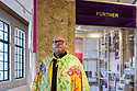 Edinburgh, UK. 26.07.2018. City Art Centre celebrates the Travelling Gallery at 40. In celebration of its fortieth year, an exhibition over two floors of Edinburgh's City Art Centre celebrate Travelling Gallery's journey through Scotland, brining art into communities. Picture shows: Artist, Mike Inglis, with his work. Photograph © Jane Hobson.