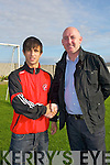 ..Noel White (Manager) wishes the capt of the under 19 Dynamos Uros Ivkovic all the best for 2011 season...