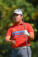 Poom Saksansin (THA) watches his tee shot on 8 during round 4 of the WGC FedEx St. Jude Invitational, TPC Southwind, Memphis, Tennessee, USA. 7/28/2019.<br /> Picture Ken Murray / Golffile.ie<br /> <br /> All photo usage must carry mandatory copyright credit (© Golffile | Ken Murray)