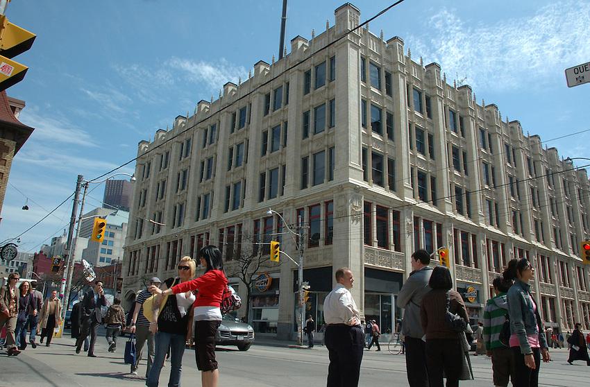 City TV Building, 299 Queen Street West, Toronto, Ontario at the corner of Queen and John