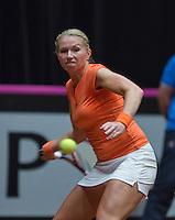 The Netherlands, Den Bosch, 20.04.2014. Fed Cup Netherlands-Japan, Krajicek (NED)<br /> Photo:Tennisimages/Henk Koster