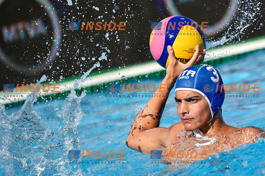 VELOTTO Alessandro Italia <br /> Romania - Italy / Romania - Italia <br /> LEN European Water Polo Championships 2014<br /> Alfred Hajos -Tamas Szechy Swimming Complex<br /> Margitsziget - Margaret Island<br /> Day02 - July 15 <br /> Photo A.Staccioli/Insidefoto/