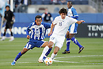 20 March 2008: Carlos Villa (GUA) (19) controls the ball in front of Marvin Sanchez (HON) (16). The Honduras U-23 Men's National Team defeated the Guatemala U-23 Men's National Team 6-5 on penalty kicks after a 0-0 overtime tie at LP Field in Nashville,TN in a semifinal game during the 2008 CONCACAF Men's Olympic Qualifying Tournament. With the penalty kick victory, Honduras qualifies for the 2008 Beijing Olympics.