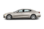 Car Driver side profile view of a 2014 Maserati Quattroporte SQ4 4 Door Sedan Side View