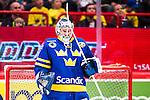 Stockholm 2014-05-03 Ishockey Oddset Hockey Games  Sverige - Finland :  <br /> Sveriges m&aring;lvakt Joacim Eriksson <br /> (Foto: Kenta J&ouml;nsson) Nyckelord:  Oddset Hockey Games Sverige Swe Tre Kronor Finland Fin Globen Ericsson Globe Arena portr&auml;tt portrait