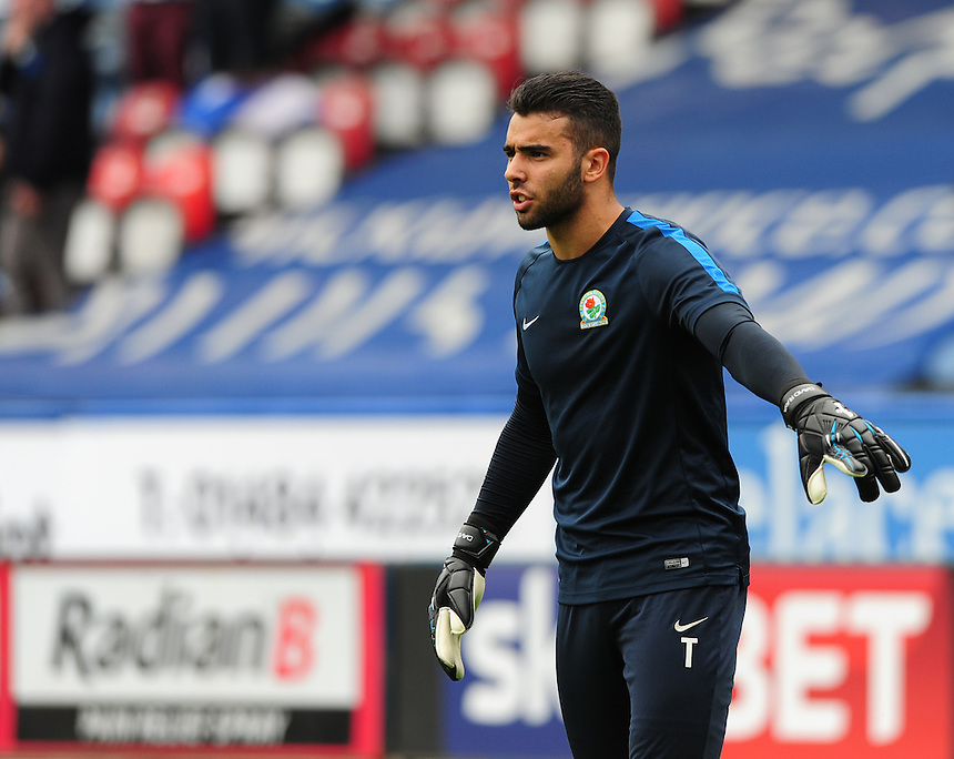 Blackburn Rovers' David Raya during the pre-match warm-up <br /> <br /> Photographer Chris Vaughan/CameraSport<br /> <br /> Football - The Football League Sky Bet Championship - Huddersfield Town v Blackburn Rovers - Saturday 15th August 2015 - The John Smith's Stadium - Huddersfield<br /> <br /> &copy; CameraSport - 43 Linden Ave. Countesthorpe. Leicester. England. LE8 5PG - Tel: +44 (0) 116 277 4147 - admin@camerasport.com - www.camerasport.com