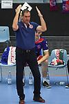07.04.2019,  Lueneburg GER, VBL, Playoff-Viertelfinale, SVG Lueneburg vs United Volleys Frankfurt im Bild Trainer Stelio DeRocco (Frankfurt) Foto © nordphoto / Witke