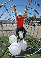 Matthew Nixon (ENG) caught swinging in &quot;Le panier de balles de golf&quot; during the preview days of the 2015 Alstom Open de France, played at Le Golf National, Saint-Quentin-En-Yvelines, Paris, France. /30/06/2015/. Picture: Golffile | David Lloyd<br /> <br /> All photos usage must carry mandatory copyright credit (&copy; Golffile | David Lloyd)