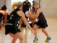 14.10.2014 Silver Ferns Liana Leota in action at the Silver Ferns Training ahead of their netball test match in Auckland tomorrow night. Mandatory Photo Credit ©Michael Bradley.