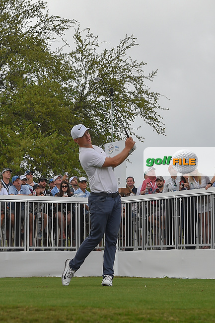 Alex Noren (SWE) watches his tee shot on 7 during day 5 of the World Golf Championships, Dell Match Play, Austin Country Club, Austin, Texas. 3/25/2018.<br /> Picture: Golffile   Ken Murray<br /> <br /> <br /> All photo usage must carry mandatory copyright credit (© Golffile   Ken Murray)